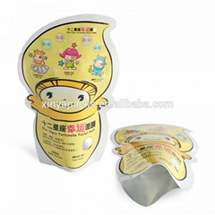 Custom Printed Aluminum Foil face mask pouch Laminated Material sheet mask pouch