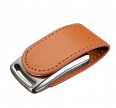 Custom leather USB drive
