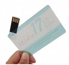 Transparent Card USB memory drive