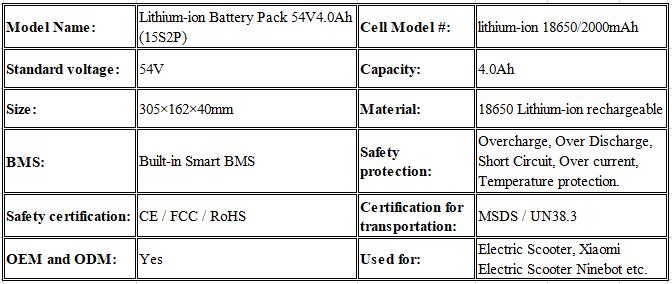 Xiaomi Ninebot Mini Scooter Battery 54V 4.4Ah Battery 5