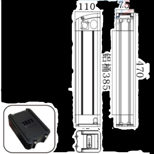 36V 17.5Ah Si  er Fish Lithium Battery E-Bike Battery 3