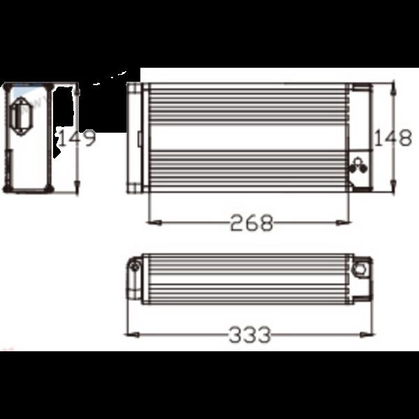 24V 36V 48V Back Rack Shelf L   age Battery Ebike Electric Bike Lithium Battery 3