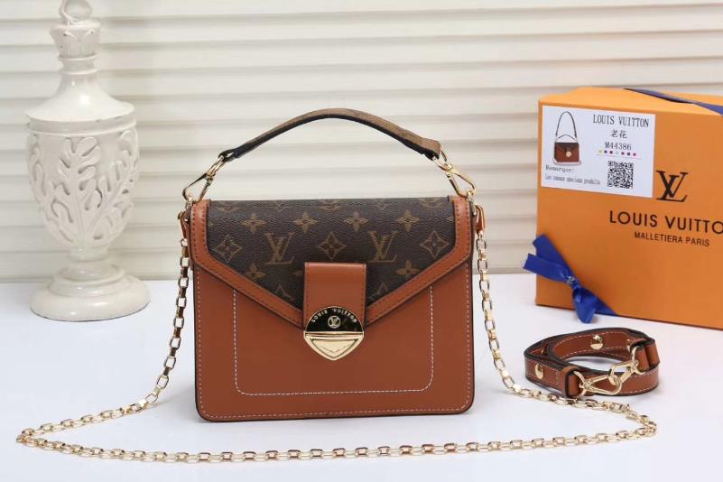 LV bag fashion louis vuitton shoulder bag lv messager bag lady lv purse Monogram 12
