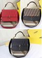 Fendi bag KAN I  Black leather FENDI CAMERA CASE Multicolor canvas bag purse 5