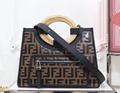 Fendi bag KAN I  Black leather FENDI CAMERA CASE Multicolor canvas bag purse 7