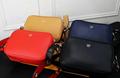 Fendi bag KAN I  Black leather FENDI CAMERA CASE Multicolor canvas bag purse 8