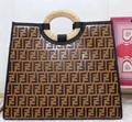 Fendi bag KAN I  Black leather FENDI CAMERA CASE Multicolor canvas bag purse 9