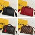 Fendi bag KAN I  Black leather FENDI CAMERA CASE Multicolor canvas bag purse 11