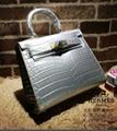 Hermes birkin bag kelly lady handbag fashion saddle bag lizard leather caviar