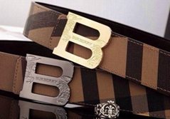 Burberry belt horseferry check leather belt trench man burberry strap tan