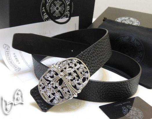 Chrome Hearts belt real leather strap Chrome Hearts man fashion leather girdle  4