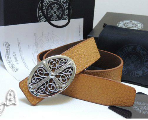 Chrome Hearts belt real leather strap Chrome Hearts man fashion leather girdle  5
