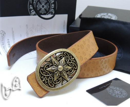 Chrome Hearts belt real leather strap Chrome Hearts man fashion leather girdle  12