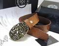 Chrome Hearts belt real leather strap Chrome Hearts man fashion leather girdle  15