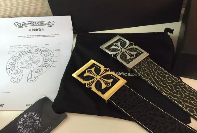 Chrome Hearts belt real leather strap Chrome Hearts man fashion leather girdle  16