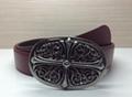 Chrome Hearts belt real leather strap Chrome Hearts man fashion leather girdle  17