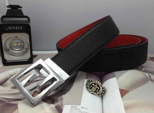 Fendi belt man cow real leather High-grade meta ldouble F with box package   7