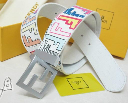 Fendi belt man cow real leather High-grade meta ldouble F with box package   12