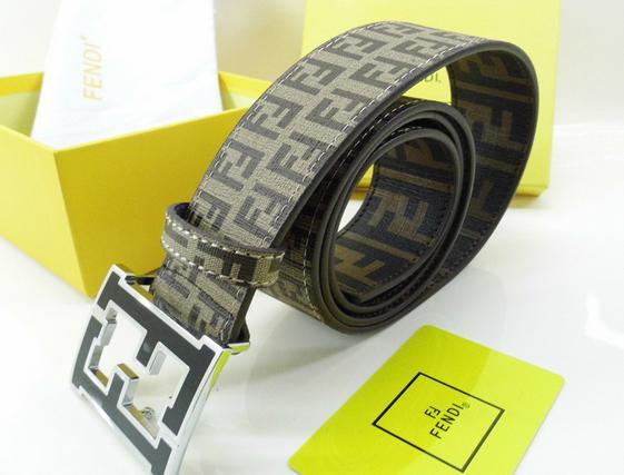Fendi belt man cow real leather High-grade meta ldouble F with box package   19