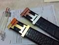 Hermès Togo calfskin leather hermes belt fashion H buckle man hermes strap 3