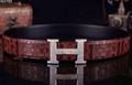 Hermès Togo calfskin leather hermes belt fashion H buckle man hermes strap 4