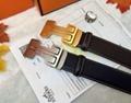 Hermès Togo calfskin leather hermes belt fashion H buckle man hermes strap 5
