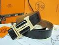 Hermès Togo calfskin leather hermes belt fashion H buckle man hermes strap 8
