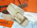 Hermès Togo calfskin leather hermes belt fashion H buckle man hermes strap 10