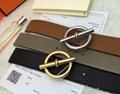 Hermès Togo calfskin leather hermes belt fashion H buckle man hermes strap 11