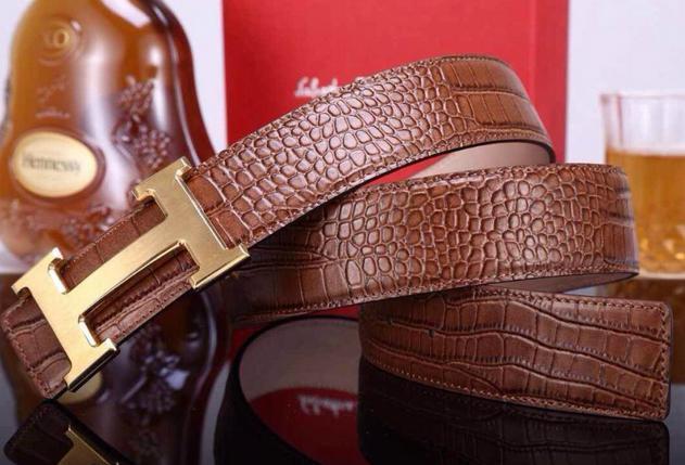 Hermès Togo calfskin leather hermes belt fashion H buckle man hermes strap 12
