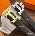 Hermès Togo calfskin leather hermes belt fashion H buckle man hermes strap 13