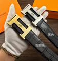 Hermès Togo calfskin leather hermes belt fashion H buckle man hermes strap 18