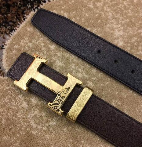 Hermès Togo calfskin leather hermes belt fashion H buckle man hermes strap 20