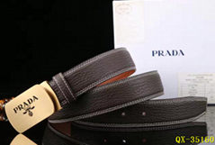 Top quality Prada belt real leather fashion straps prada man girdle gift box