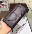 Armani wallet real leather purse man zipper burse hot sale notecase wtih box