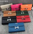 Herme wallet Ostrich Leather hermes purse card holder hermes cluth bag