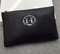 Herme wallet men cluth bag hermes purse real leather hermes cluth bag black