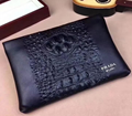 Fashion Prada wallet men cluth bag parda leather purse black small bag