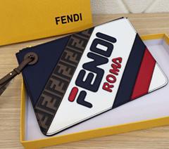 FENDI wallet cluth bag leather purse FENDI small bag CARD HOLDER ZIP AROUND