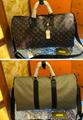 Monogram LV duffle leather man briefcase lv messenger bag travling backpack  3