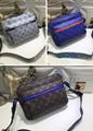 Monogram LV duffle leather man briefcase lv messenger bag travling backpack  2
