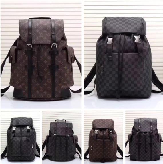 Monogram LV duffle leather man briefcase lv messenger bag travling backpack  7