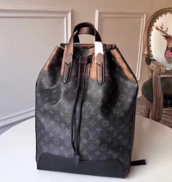 Monogram LV duffle leather man briefcase lv messenger bag travling backpack  10