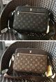 Monogram LV duffle leather man briefcase lv messenger bag travling backpack  11