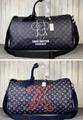 Monogram LV duffle leather man briefcase lv messenger bag travling backpack  12