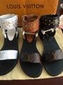 LV slippers lady flat mules flip flops