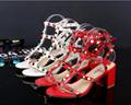 VALENTINO sandals ockstud Rolling Noir
