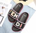 Fendi slippers slides white canvas fendi
