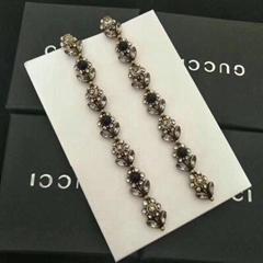 Gucci earrings woman bangle ear clip neacklace gucci brooch bracele with box