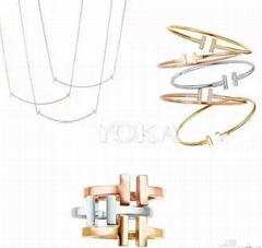 Tiffany&co.bracelet fashion bangle new earring lady tiffany neacklace gift box